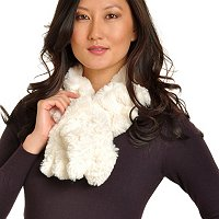Pamela McCoy Rabbit Faux Fur Scrunch Scarf