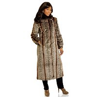 Pamela McCoy Shawl Collar Faux Fur Coat w/Elastic Cuffs and Slit Pockets