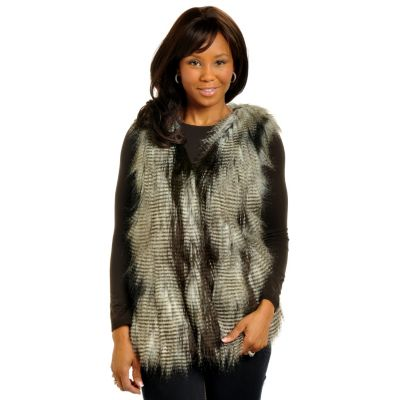 702-576 - Geneology Faux Ostrich Feather Vest