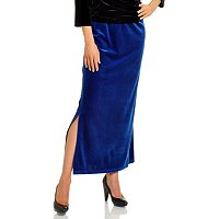 Adressing Woman Stretch Velvet Pull-On Skirt