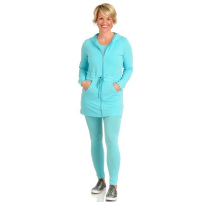 702-625 - OSO Casuals Lace Back Knit Hoodie, Top & Pull-On Pant Set