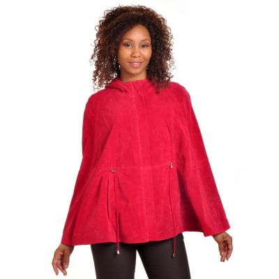 702-650 - Pamela McCoy Washable Suede Hooded Cape