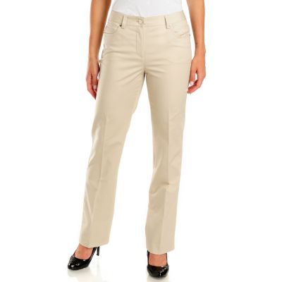 702-661 - Kate & Mallory Five-Pocket Classic Fit Slimming Woven Pants
