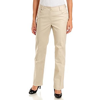 702-662 - Kate & Mallory Five-Pocket Curvy Fit Slimming Woven Pant