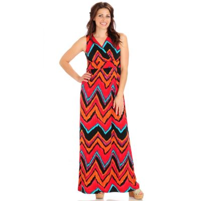 702-827 - Kate & Mallory Stretch Knit Sleevless V-Neck Maxi Dress