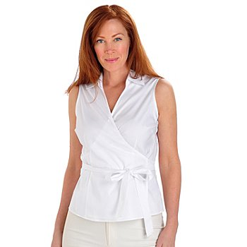 702-908 - Brooks Brothers® Stretch Cotton Sleeveless Wrap