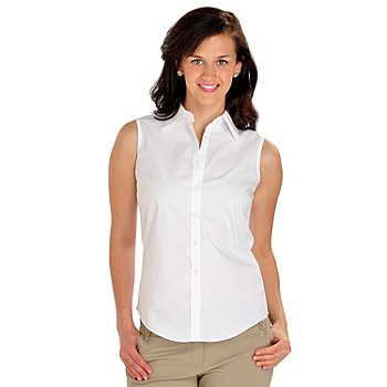 702-912 - Brooks Brothers® Sleeveless Fitted Cotton Blouse