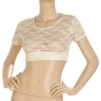 702-946 - Halftee™ Short Sleeved Layering Lace Top