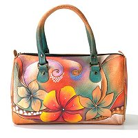 ANUSCHKA HAND-PAINTED LEATHER EAST/WEST FRAMED SATCHEL