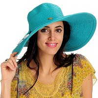 "SUN N SAND ACCESSORIES SHORELINE HUES 5"" BRIM SUN HAT"