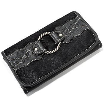 703-708 - American West ''Santa Fe Spirit'' Leather Organizer Wallet w/ Snap Closure