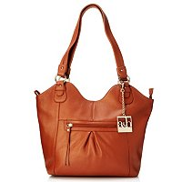 AMELIA & BLAKE LEATHER ZIP TOP NEW TOTE