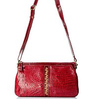 "Madi Claire ""Kaylee"" Croco Embossed Leather Cross Body Bag"