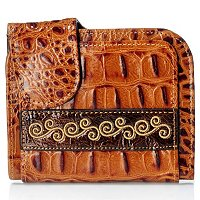 "Madi Claire ""Kaylee"" Croco Embossed Leather Wallet"