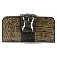 Madi Claire Sydney Croco Embossed Leather Wallet