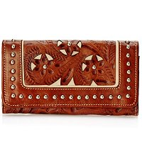 American West Leather Bi-fold Wallet