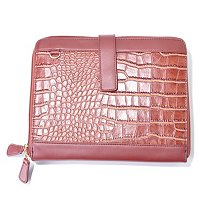 iPad Croco Embossed Clutch with Detachable Shoulder Strap