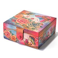 Anuschka Hand Painted Watch/Jewelry Box