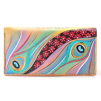 704-254 - Anuschka Hand Painted Leather Clutch Wallet