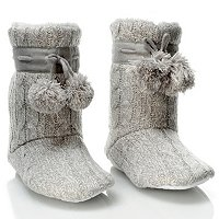 "Patricia Green ""Connie"" Cable Knit Faux Shearling Bootie"