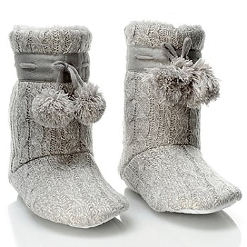 704-266 - Patricia Green ''Connie'' Cable Knit & Faux Shearling Boots