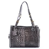 MADI CLAIRE REBECCA MATTE CROCO LEATHER SMALL TOTE