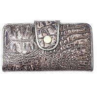 MADI CLAIRE REBECCA MATTE CROCO LEATHER WALLET