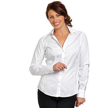 704-374 - Brooks Brothers® Stretch Cotton Non-Iron Spago Blouse