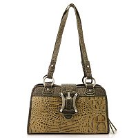 Madi Claire Croco Embossed Leather Satchel