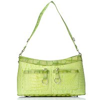 Madi Claire Bailey Croco Embossed Leather Shoulder Bag with Pockets