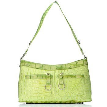 704-452 - Madi Claire ''Bailey'' Croco Embossed Leather Shoulder Bag