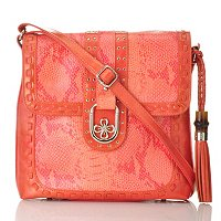 Madi Claire Fiona Snake Embossed Leather Cross Body Bag