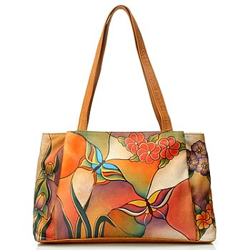 704-461 - Anuschka Hand Painted Leather Large Shopper Handbag