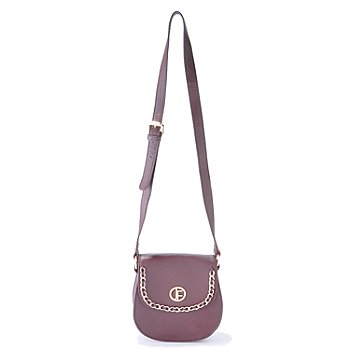 704-472 - Jack French London ''Fulham'' Chain Detail Pebbled Leather Cross Body Bag