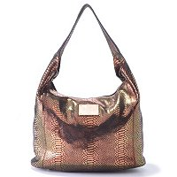 Jack French London Primrose Leather Snake Print Hobo
