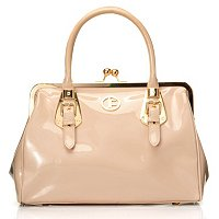 Jack French London Knightsbridge Patent Leather Satchel
