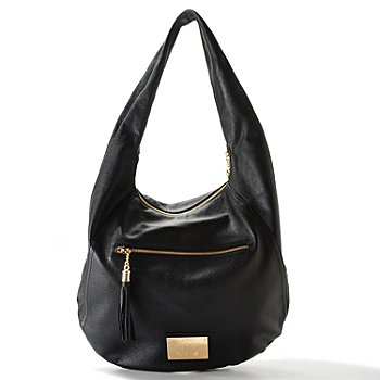 704-480 - Jack French London ''Motcomb'' Tassel Detail Leather Hobo Shoulder Bag