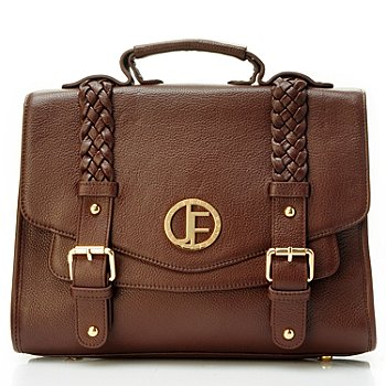 704-482 - Jack French London Pebbled Leather ''Holland'' Cross Body Messenger Bag