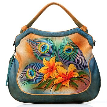 704-494 - Anuschka Hand Painted Leather Expandable & Convertible Shopper Handbag