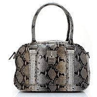 Calvin Klein Handbags Python Embossed Leather Convertible Duffle