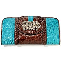 Madi Claire Luckie Croco Embossed Wallet