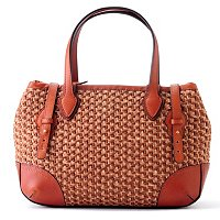 Brooks Brothers Brown Straw Satchel