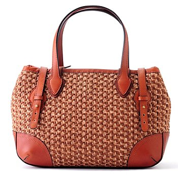 704-566 - Brooks Brothers® Brown Straw Satchel