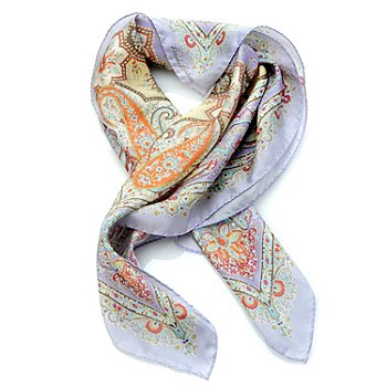 704-573 - Brooks Brothers® Paisley Print Silk Habutai Neckerchief