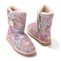 California Comfort Footwear One Button Shasta Shearling Boots