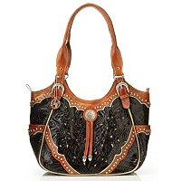 American West Three Compartment Scoop Top Tote