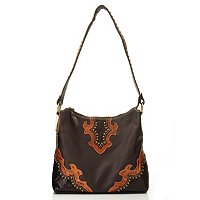 American West Zip Top Structured Hobo