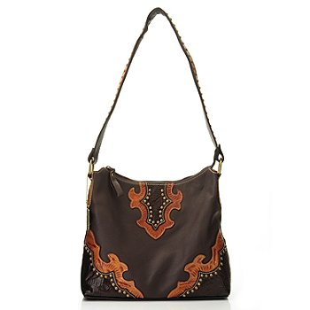 704-626 - American West Zip Top Leather Structured Hobo Handbag
