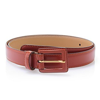 704-668 - Brooks Brothers® Leather Square Buckle Belt
