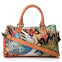 Anushka Hand Painted Leather Satchel